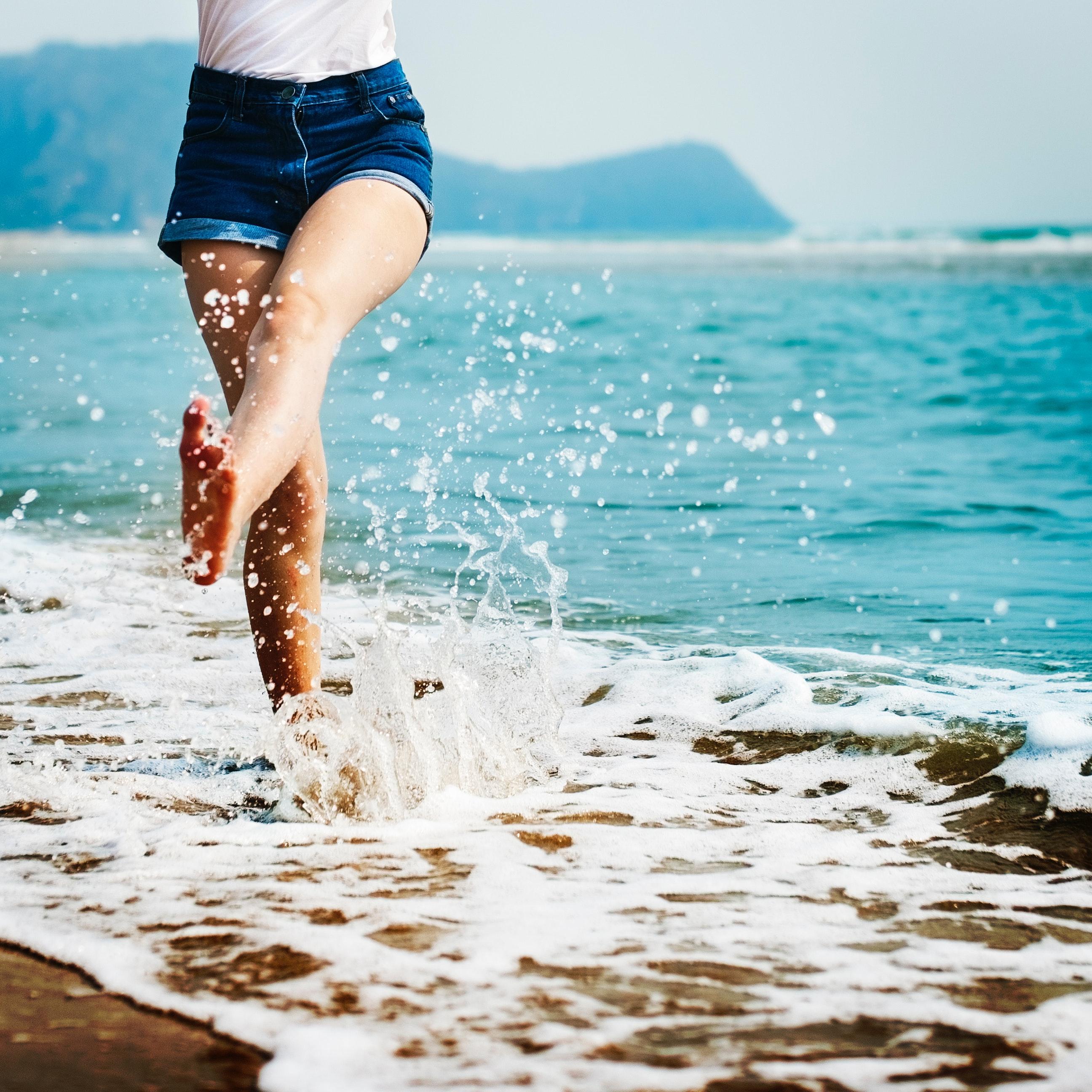 Am Strand Lebenslust erleben
